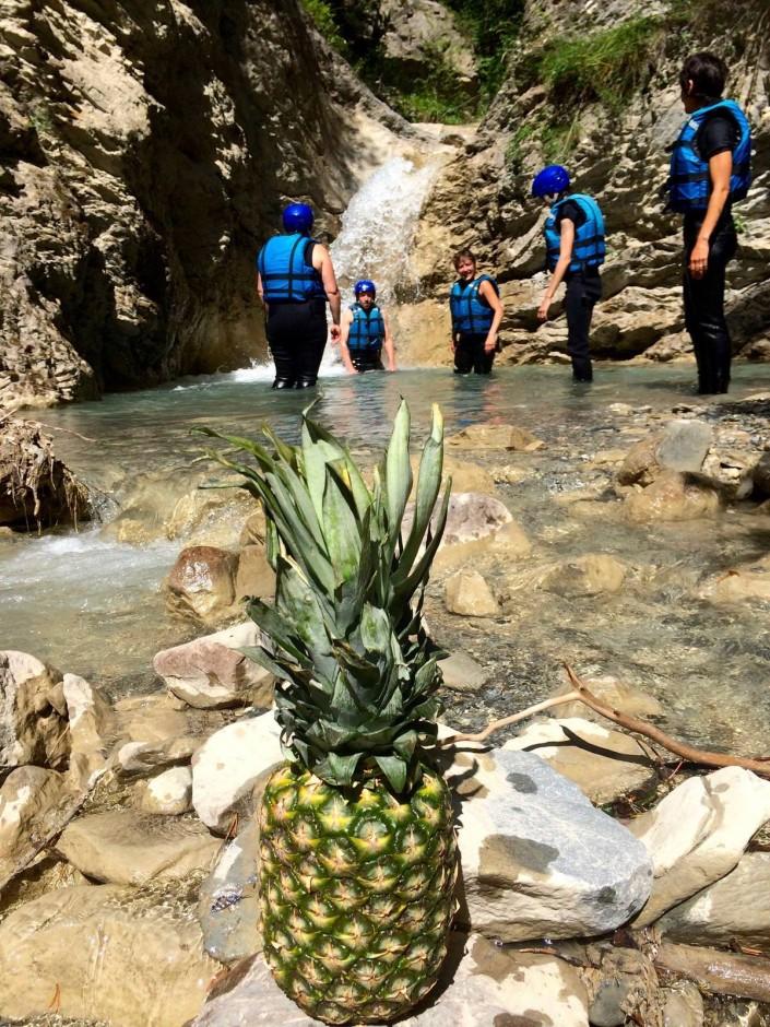 ananas rafting avec raft'ubaye