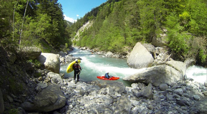 kayakiste en vallée de l'ubaye