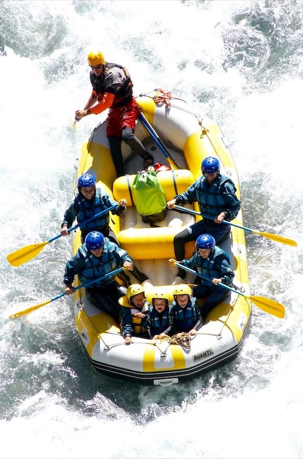 descente en rafting en famille à barcelonnette