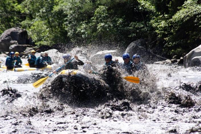 rafting après orage à barcelonnette