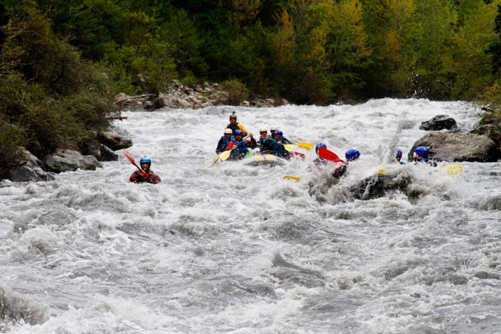 rafting au printemps à Barcelonnette